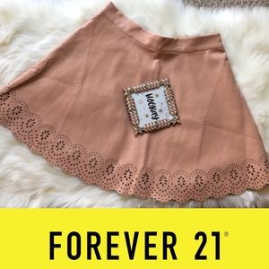 Forever 21 Nude Mini Skirt